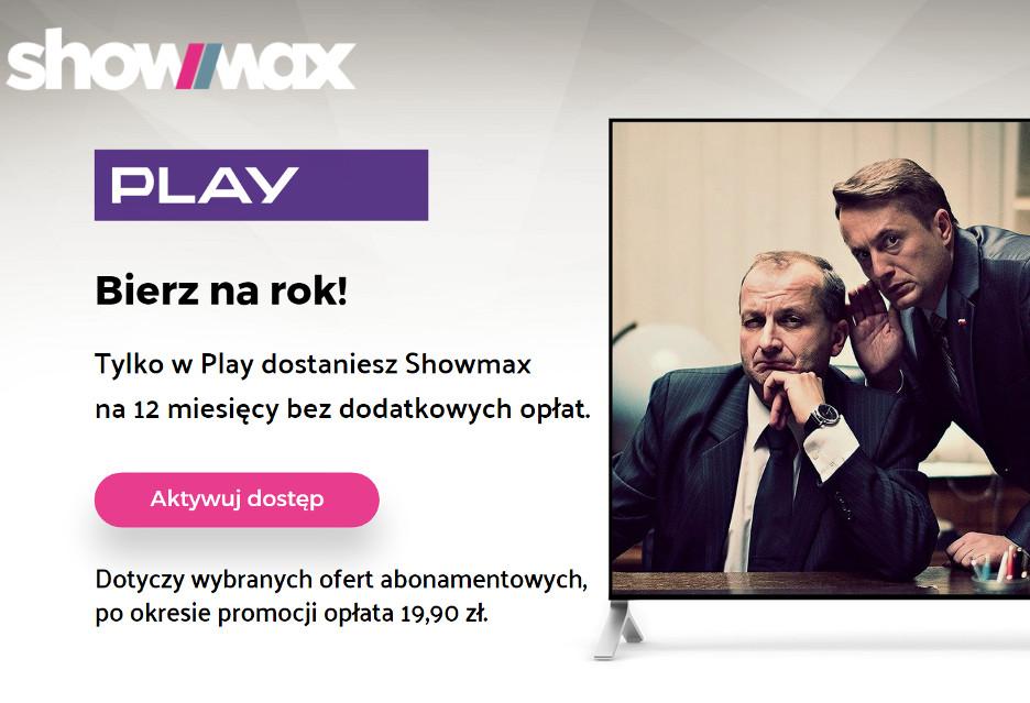 Showmax za darmo przez rok dla klientów Play - jak skorzystać?