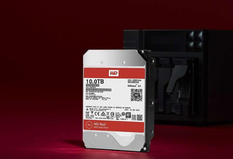 Dyski WD Red z helem i o pojemności 10 TB - do NAS-a