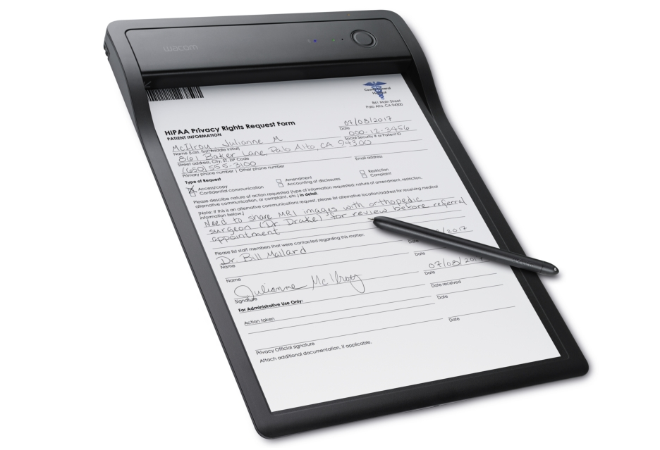 Digitalizacja dokumentów w czasie rzeczywistym - podkładka Wacom Clipboard