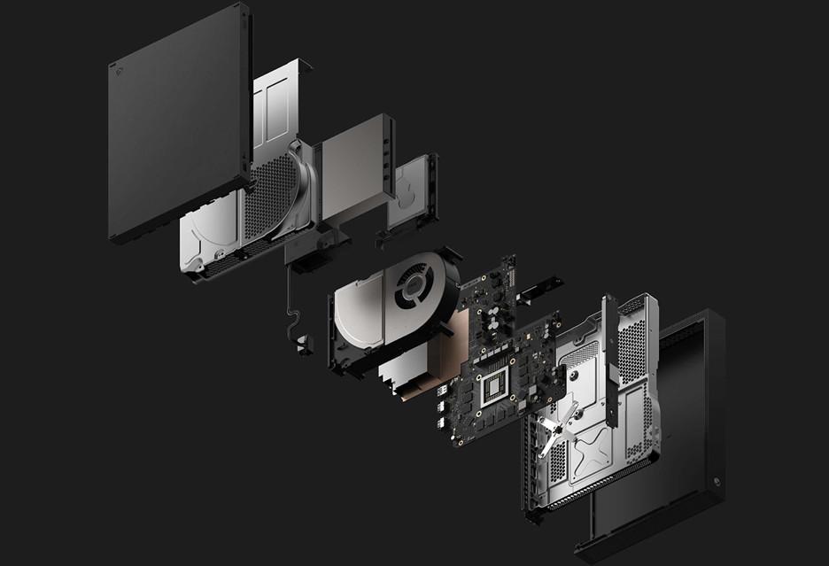 Xbox One X złożony na żywo - część po części