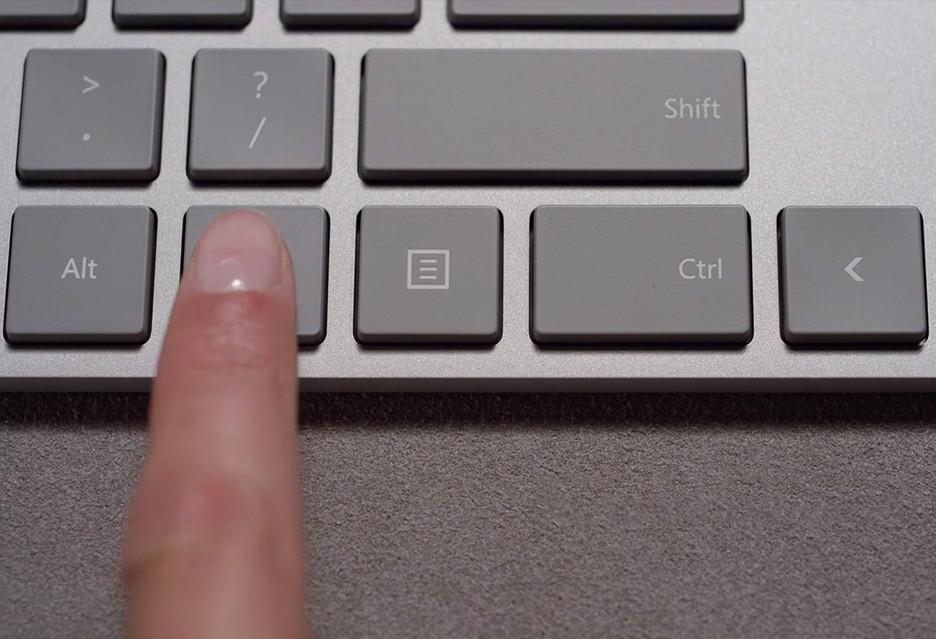 Klawiatura z czytnikiem linii papilarnych od Microsoftu