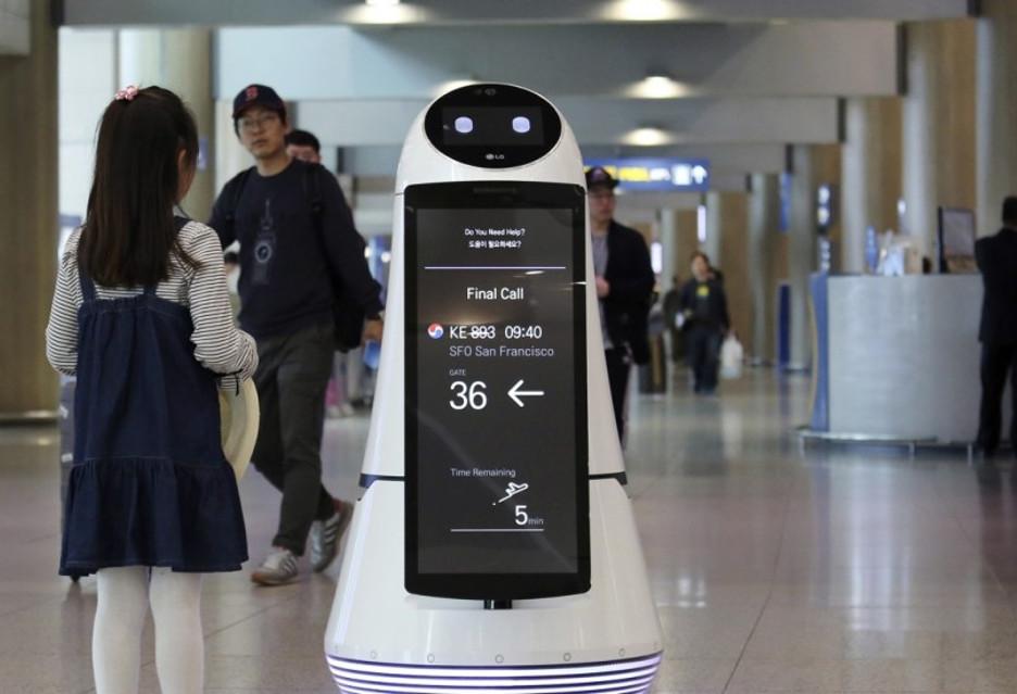 Oto Troika - robot, który służy pomocą na lotnisku w Korei Południowej