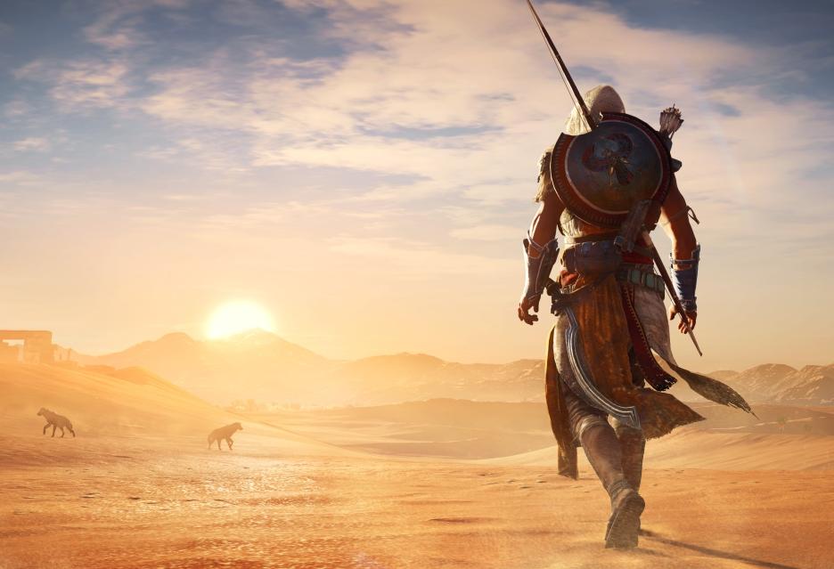 Porcja rozgrywki z Assassin's Creed: Origins - gameplay z Xbox One X