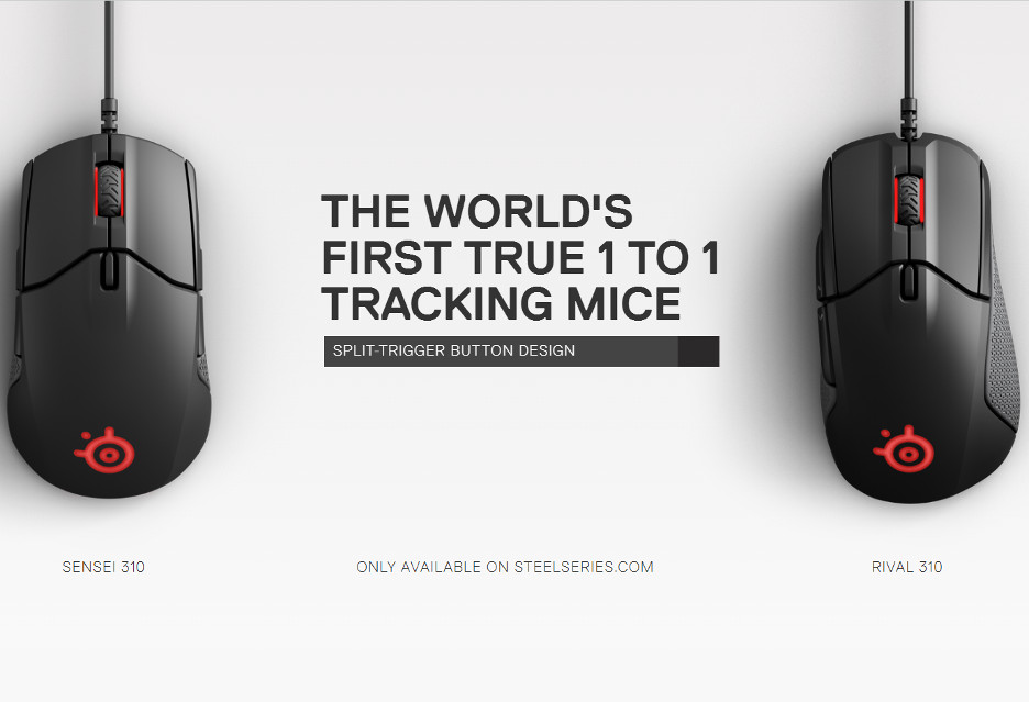SteelSeries prezentuje myszki dla graczy-zawodowców