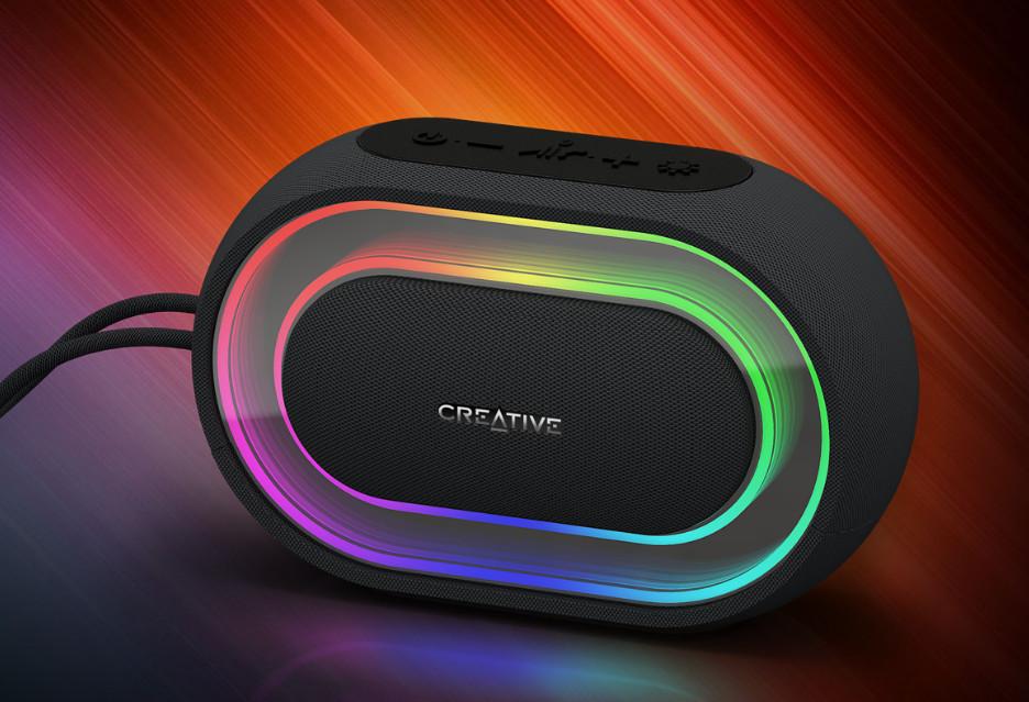 Bezprzewodowy głośnik oświetlany milionami kolorów - Creative Halo