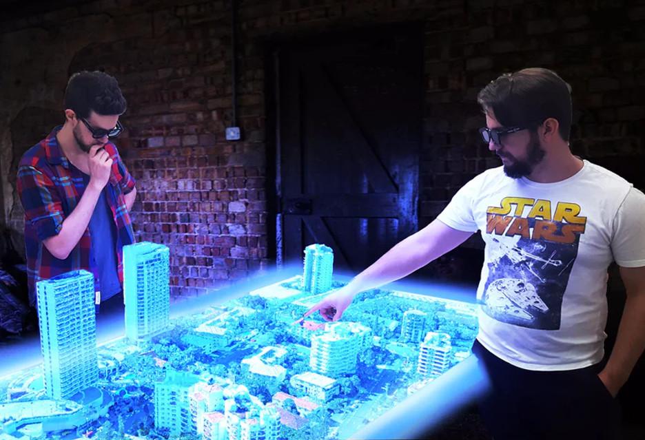Genialny Euclideon: wieloosobowy stół holograficzny FO61