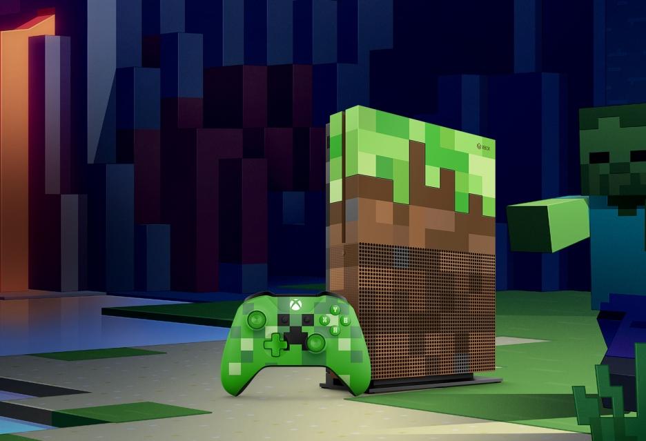 Xbox One S Minecraft Limited Edition - zestaw dla fanów budownictwa