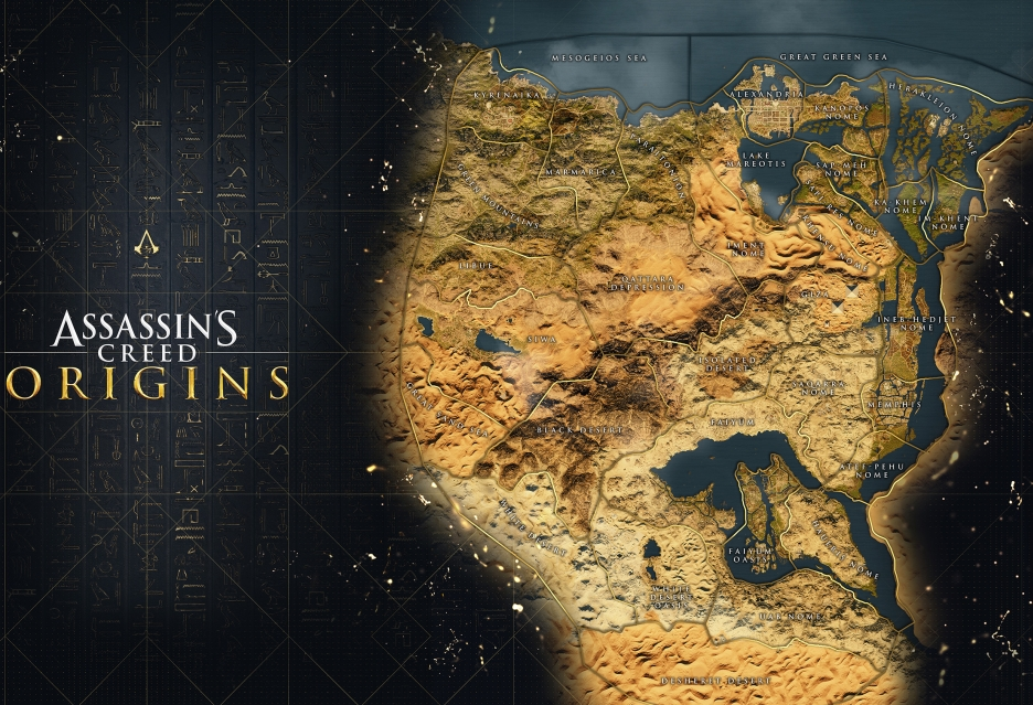 Assassin's Creed: Origins - jeszcze jeden zwiastun i spojrzenie na mapę