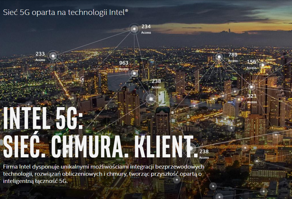 Intel chce sieci 5G do 2020 roku