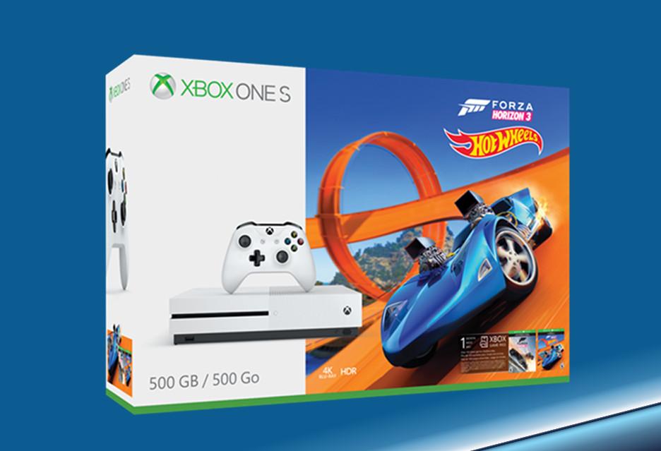Xbox One S w zestawie z Forza Horizon 3 + Hot Wheels