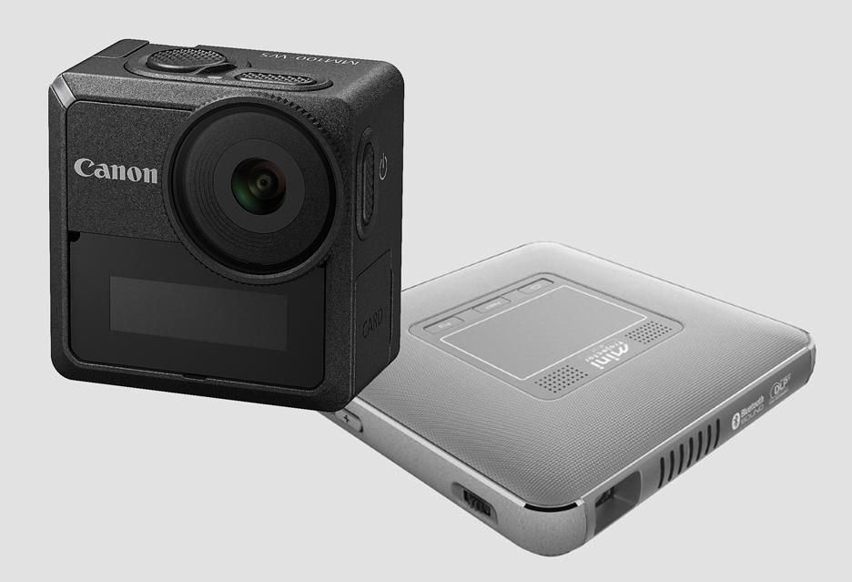 Fajne gadżety Canona - kamera akcji i pikoprojektor