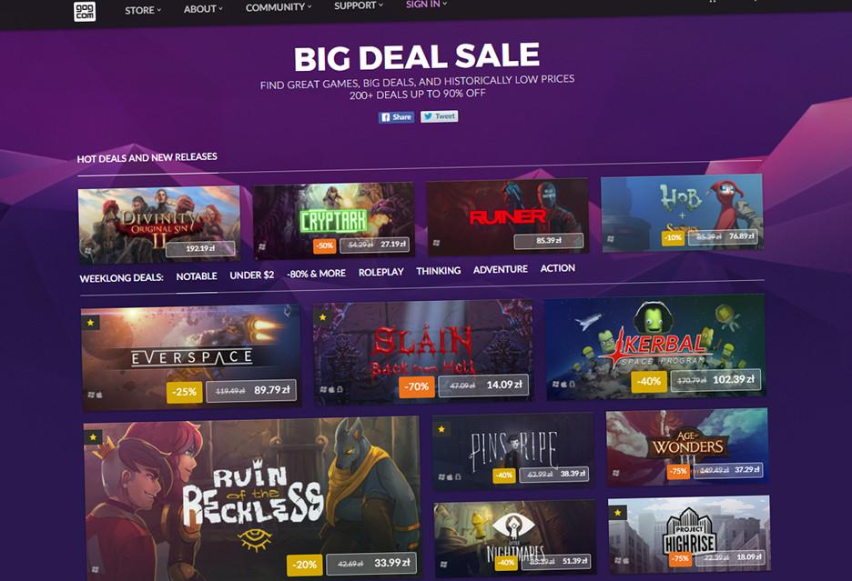 Wielka promocja na GOG - ponad 200 gier z dużymi rabatami