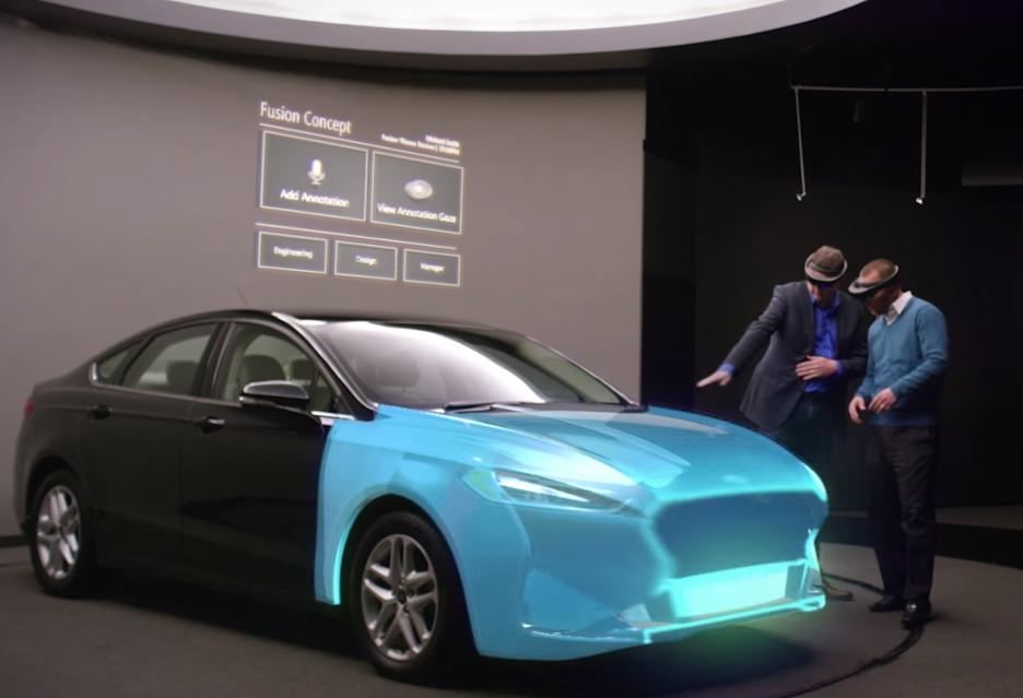 Projektowanie samochodów w goglach HoloLens