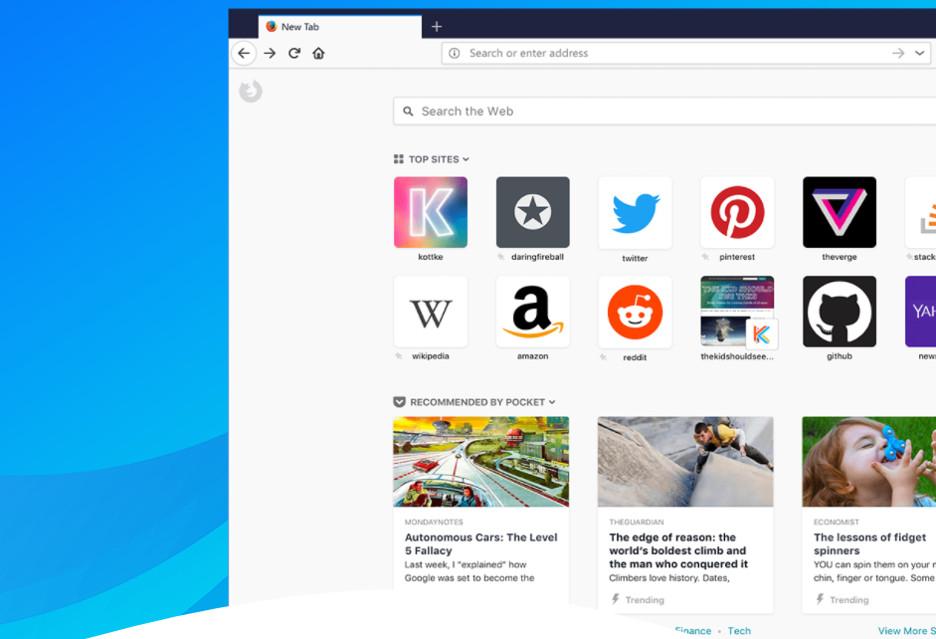 Firefox Quantum - szybsza przeglądarka z odświeżonym interfejsem