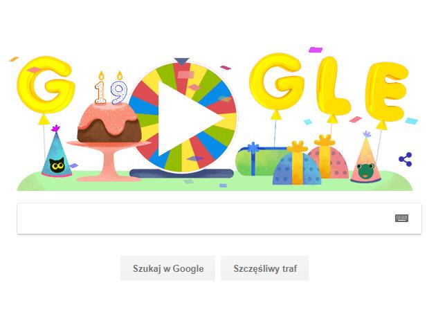 19 lat z wyszukiwarką Google - urodzinowe koło fortuny