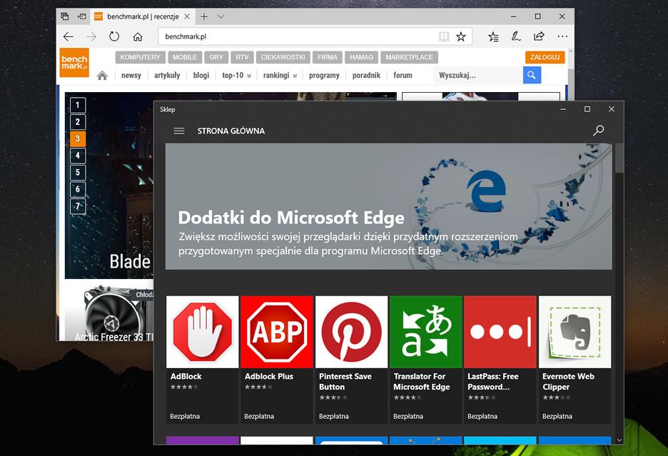 Dlaczego do Microsoft Edge jest tak mało rozszerzeń?
