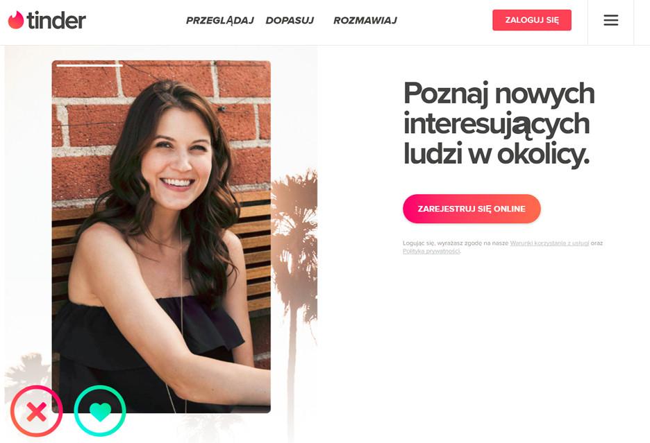 Tinder w przeglądarce dla Polek i Polaków