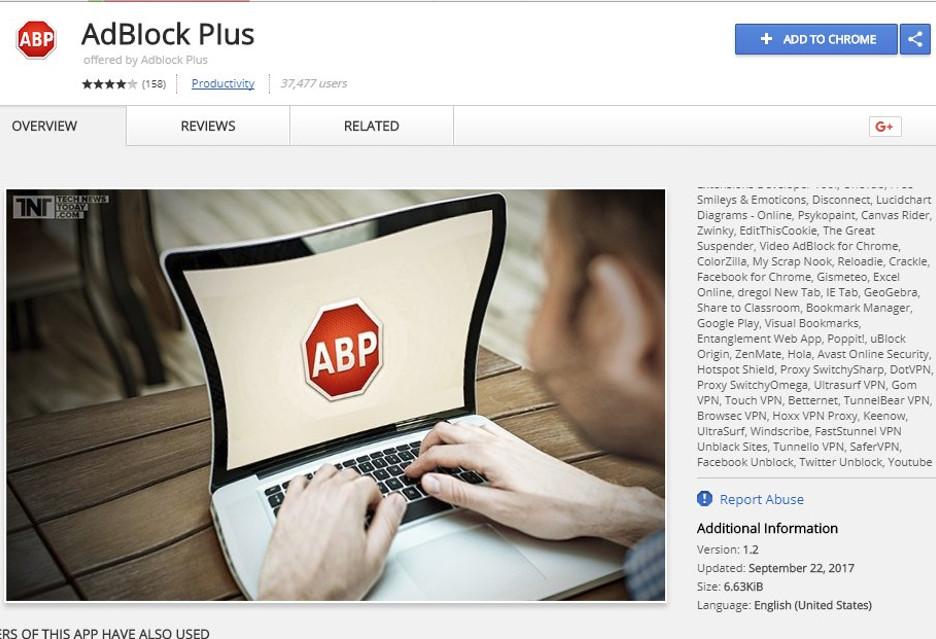 Pobieraliście ostatnio Adblock Plus? W Chrome Web Store była fałszywka