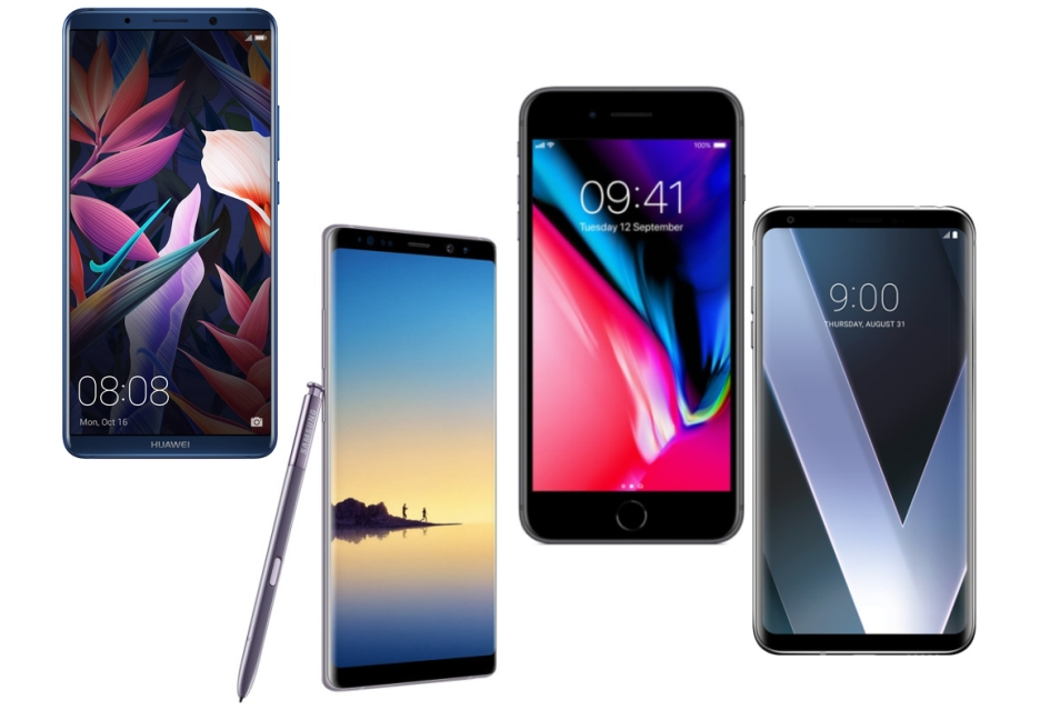 Huawei Mate 10 Pro vs Galaxy Note 8 vs LG V30 vs  iPhone 8 Plus - porównanie specyfikacji