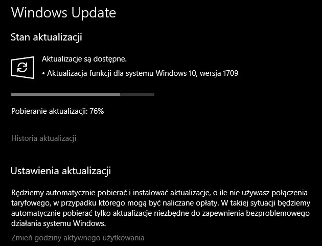 Jak wymusić instalację Windows 10 Fall Creators Update?