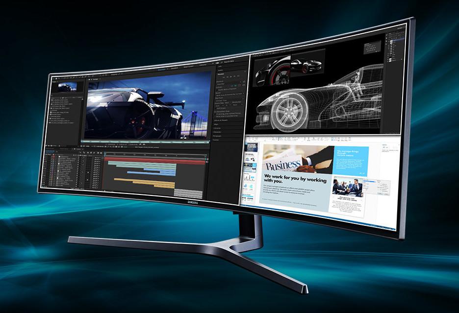 Samsung CHG90: 49-calowy monitor QLED (także) dla profesjonalisty