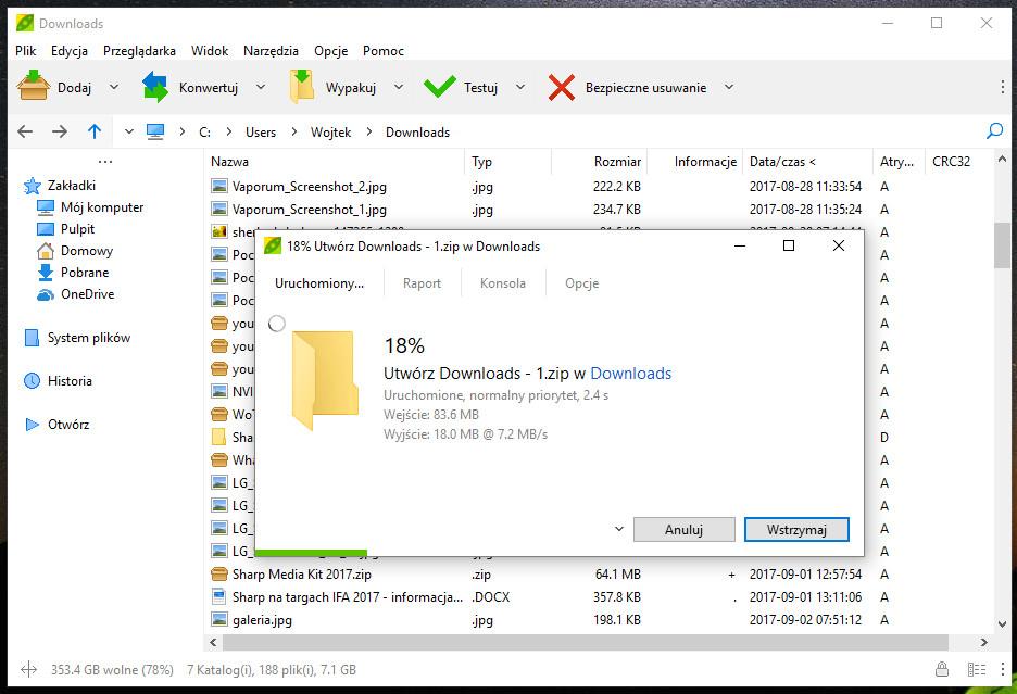 PeaZip 6.5 - godny polecenia menedżer archiwów w nowej wersji