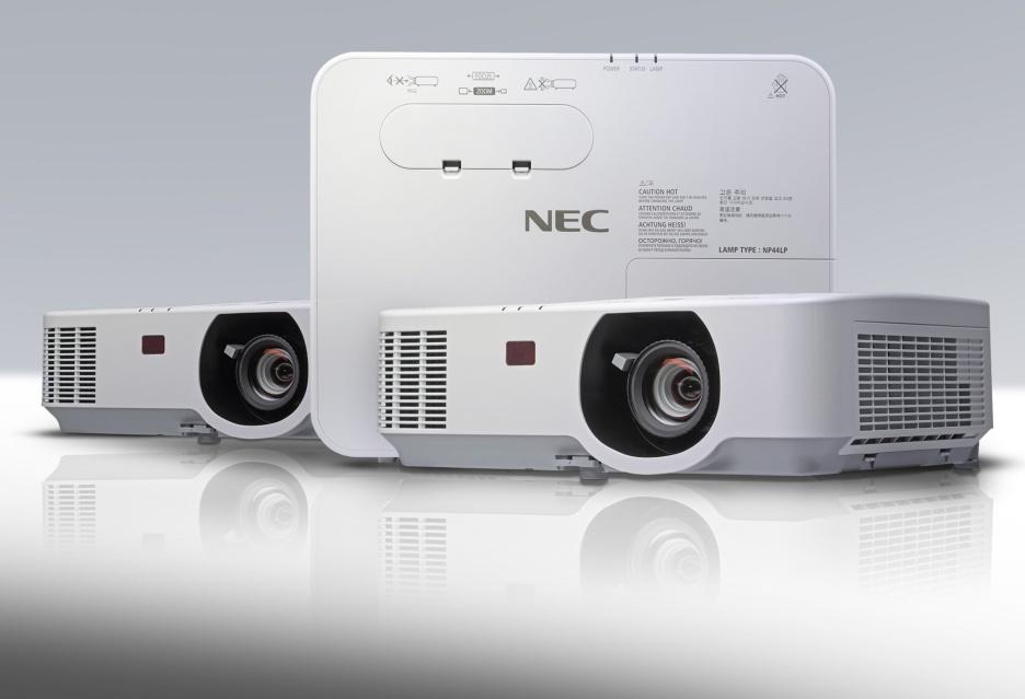 Jasne, dobrze wyposażone i zabezpieczone projektory NEC z serii P - dla biznesu i edukacji
