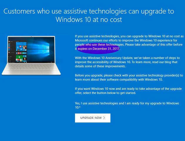 Bezpłatna aktualizacja do Windows 10 tylko do końca tego roku