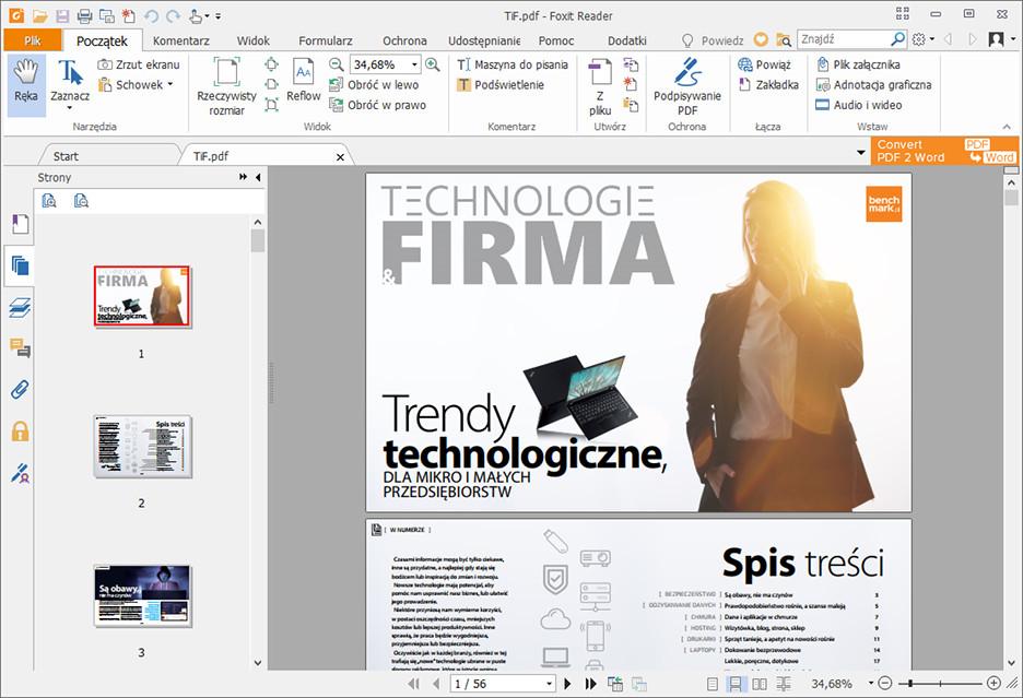 Foxit Reader 9.0 - w pełni funkcjonalny czytnik PDF