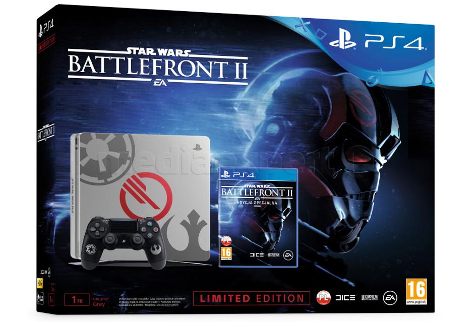 PlayStation 4 z grą Battlefront II w zestawie