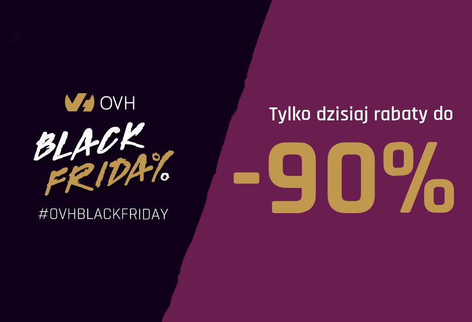 Black Friday z OVH - serwery, hostingi i domeny w promocji