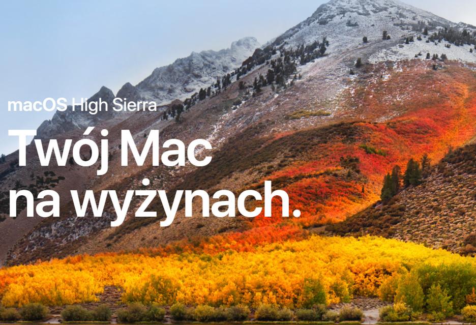 macOS High Sierra z poważną luką [AKT. - łatka]