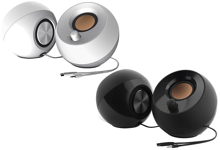 Creative Pebble  - niedrogie i niebrzydkie głośniki na biurko