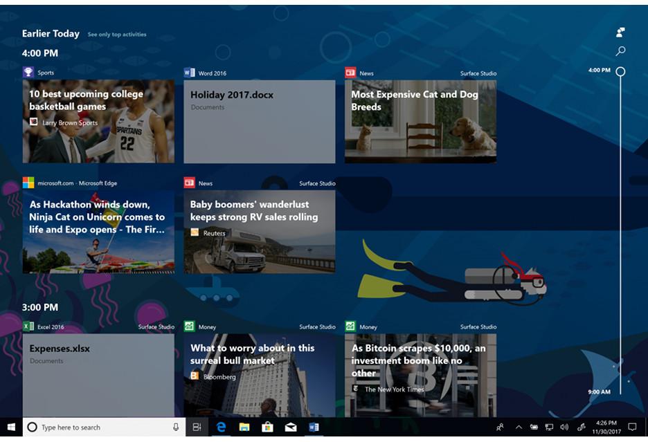 Windows 10 na drodze do kolejnej aktualizacji - Timeline, Sets i Fluent Design