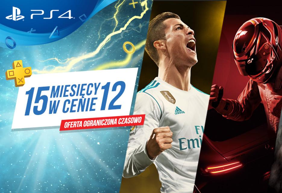 PlayStation Plus - 15 miesięcy w cenie 12