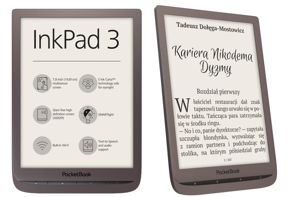 Czytnik PocketBook InkPad 3 - interesujące, smukłe (niecałe) 8 cali [AKT.]