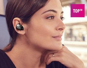 Całkowicie bezprzewodowe słuchawki Bluetooth