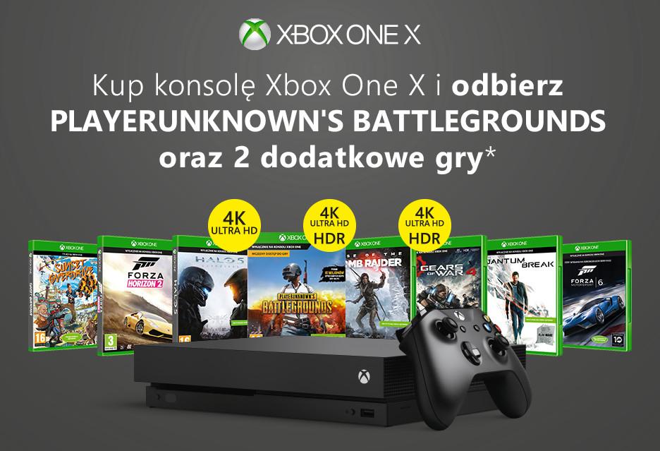 Xbox One X teraz z trzema grami w zestawie