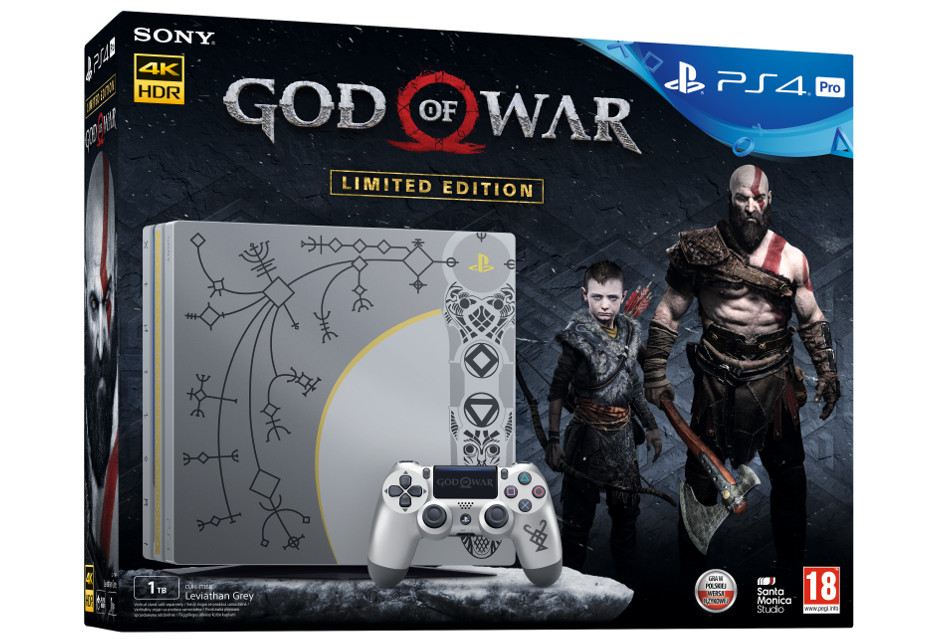 PlayStation 4 Pro w barwach God of War