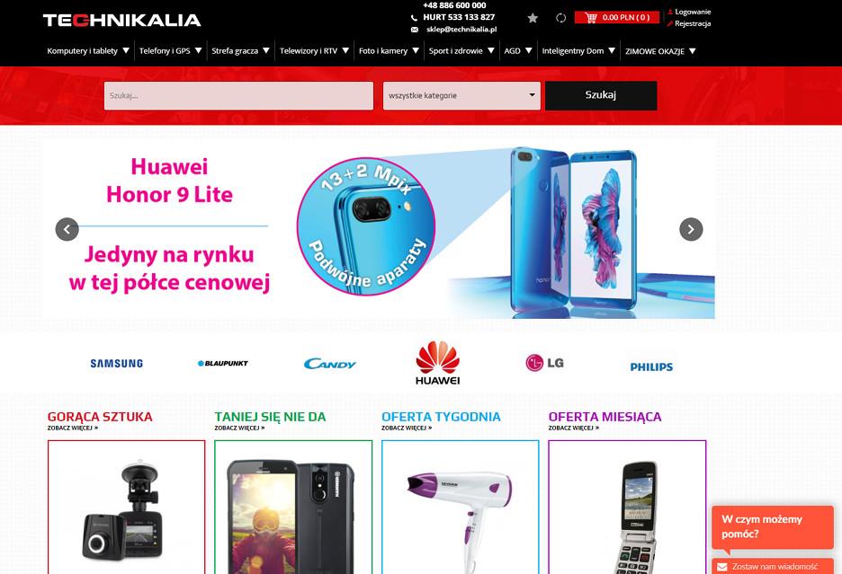 Technikalia.pl - nowy sklep z elektroniką