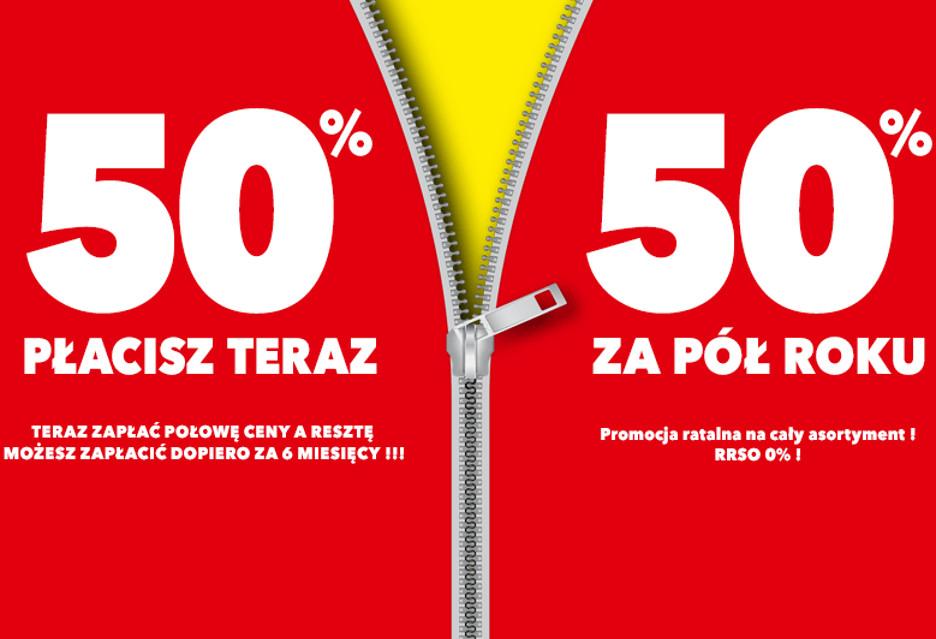 50% płacisz teraz, 50% za pół roku - promocja w RTV Euro AGD