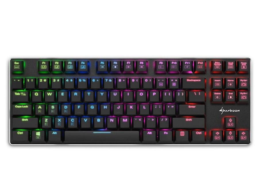 Sharkoon zaczyna sprzedaż niskoprofilowej, mechanicznej klawiatury z RGB - PureWriter TKL RGB