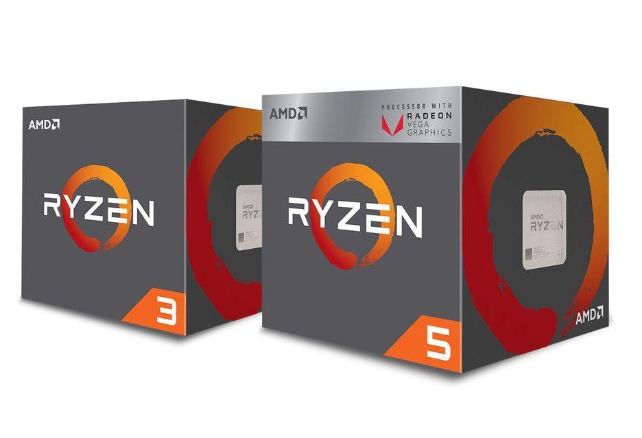 AMD Ryzen 3 2200GE i Ryzen 5 2400GE - energooszczędne procesory APU już oficjalnie