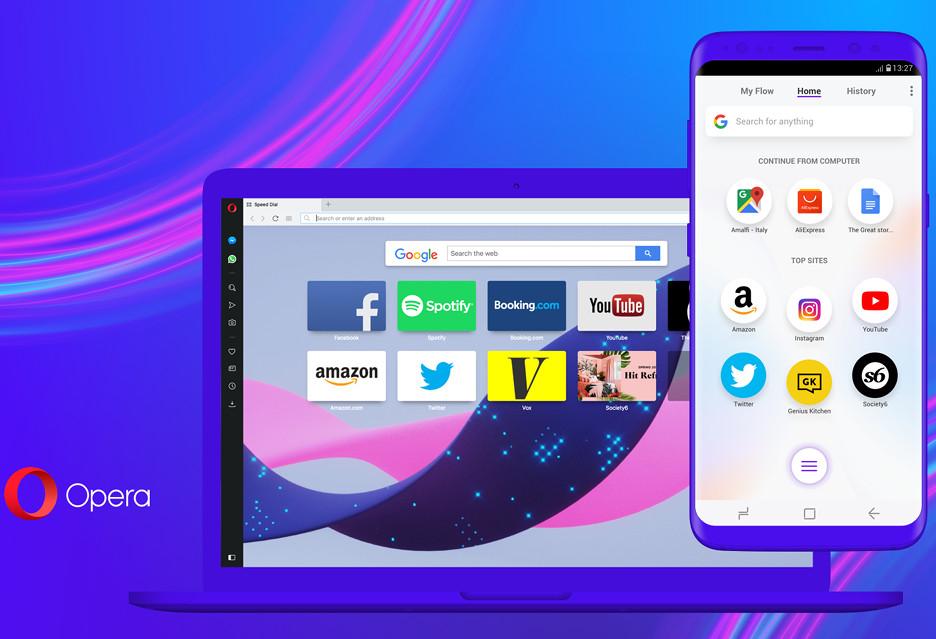 Opera Touch, Flow i IS - wygodniejsze przeglądanie Internetu na pececie i smartfonie