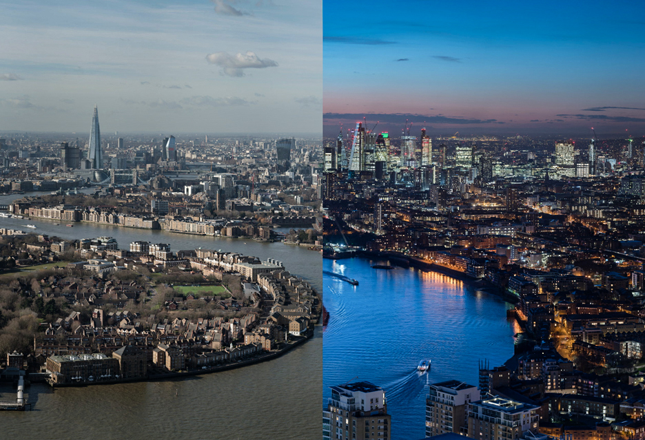 Doba w Londynie poklatkowo - 24 ujęcia o rozdzielczości 7,3 gigapiksela każde
