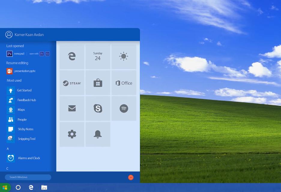 Tak mógłby wyglądać Windows XP, gdyby był tworzony dzisiaj
