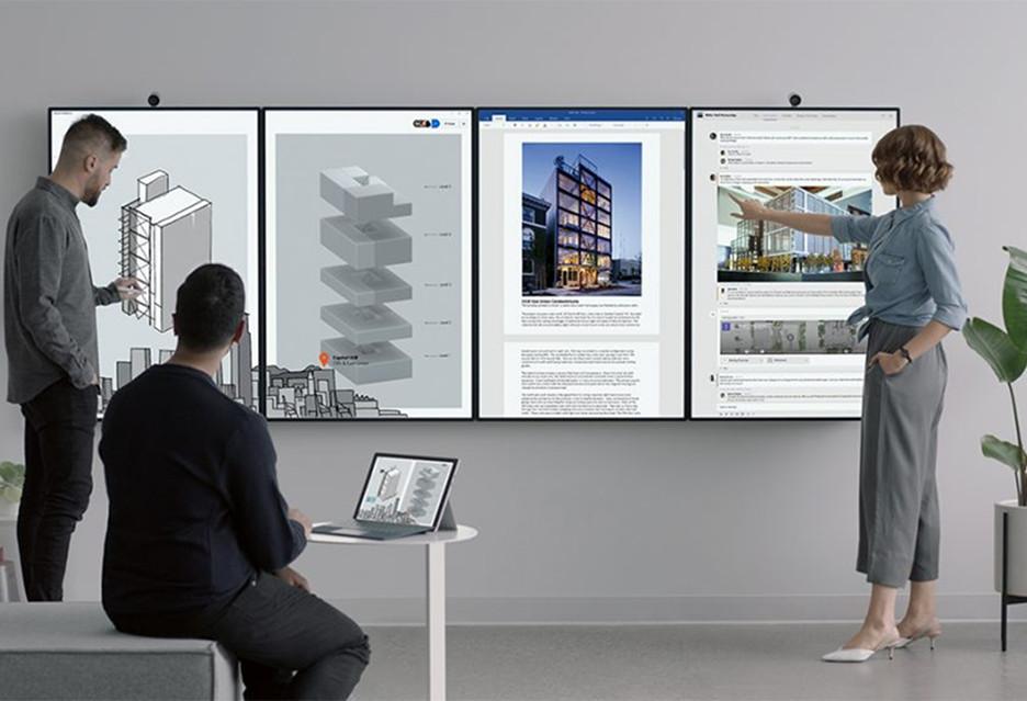 Microsoft Surface Hub 2 to interaktywna tablica do poprawy efektywności w pracy