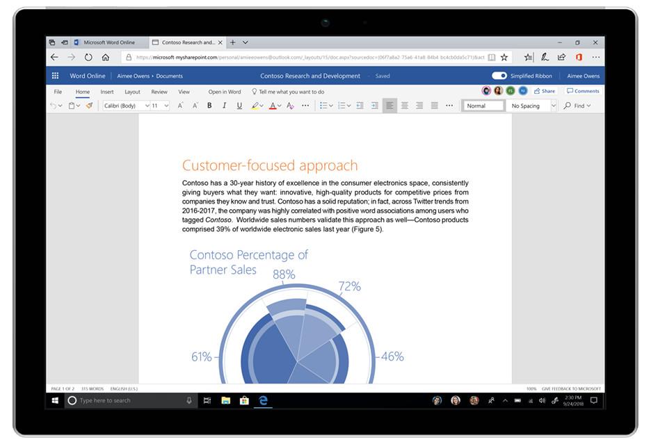 MS Office z odświeżonym interfejsem - uproszczona wstążka i Fluent Design