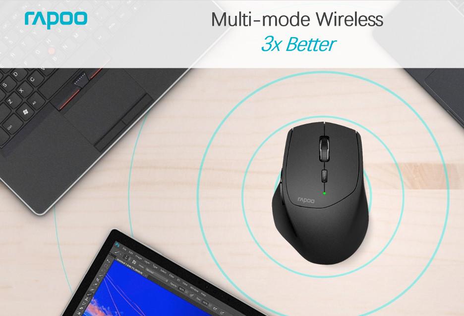 Rapoo MT550 - zwiększająca produktywność myszka z Multi-mode Wireless