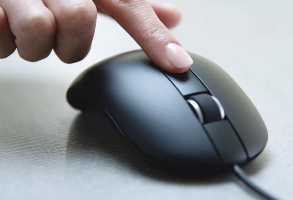 Dell MS819 to mysz z czytnikiem linii papilarnych
